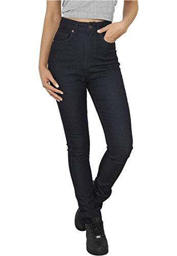 Urban Classics Ladies High Waist Denim Skinny Pants Jean Femme bleu foncé W33/L32