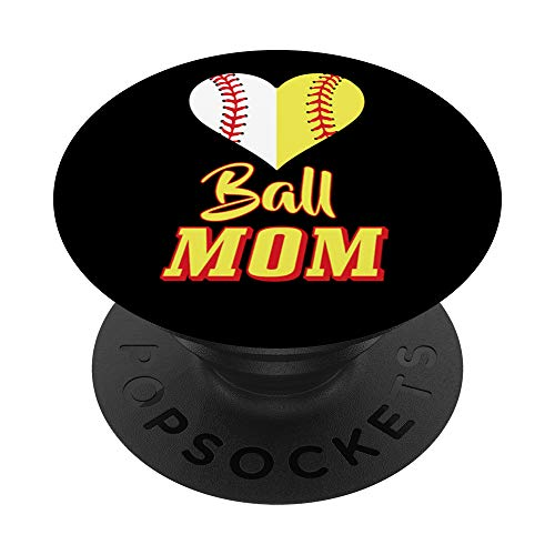 Softball Mom Gadget Ball Mom Baseball Gift PopSockets PopGrip: Swappable Grip for Phones & Tablets