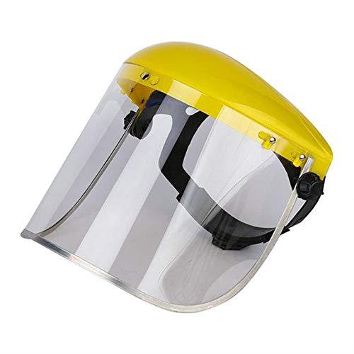 B Baosity Protección facial de seguridad con visera transparente para el recortador de motosierra de jardín podadora de poste de soldadura antisalpicaduras