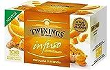 Twinings Infusiones - Cúrcuma y Naranja - Nuevas Infusiones Frutas y Hierbas sin Cafeína y 100% Naturales, Explosión de Sabor para Cualquier Momento del Día (40 Bustine)