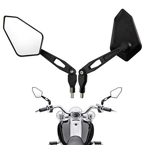 Motorrad Rueckspiegel Universal 8mm 10mm Motorrad Spiegel E-Pruefzeichen Rueckseitenspiegel Seitenspiegel Universal Kompatibal mit MT 07 MT 09 SV650 GSX-S1000 (Modell 1) Ersatz