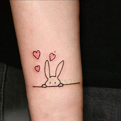 tzxdbh Impermeable Etiqueta Engomada del Tatuaje Temporal de ...