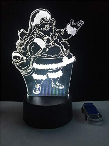 HGFHGD Lámpara 3D de Santa Claus, lámpara LED USB, iluminación Multicolor, cambiante...