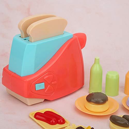 Rodipu Alimentado por 2 Pilas AA, Juguete de simulación, Juguete Tostador para niños, Mini Mano de Obra Exquisita para Que jueguen los niños(Toaster)
