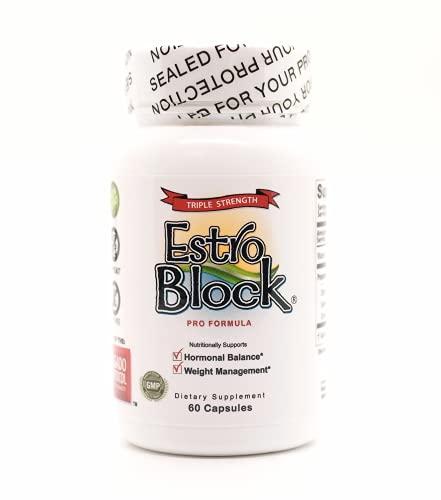 Estroblock PRO Triple Strength - 60 Capsules, DIM & Indole 3-Carbinol...