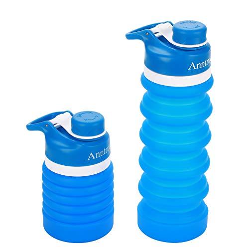 Anntrue Food-Grade Silicone Portable Leak Proof Travel Water Bottle