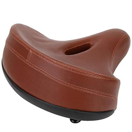 FOLOSAFENAR Asiento de sillín de Bicicleta Robusto Resistente al Desgaste Duradero Almohadilla Suave Esponja cómoda Cojín de Bicicleta Accesorio de Ciclismo para Entretenimiento doméstico(Brown)