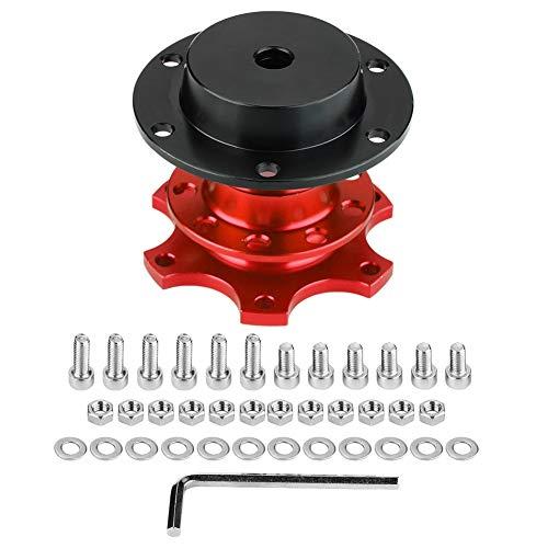 Best Bargain Fydun Steering Wheel Hub Quick Release Adapter Snap Off Kit with Screws Steering Wheel ...