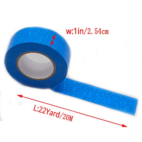 Blue Painters Tape Masking Tape 1 inch,Medium Adhesive,No Residue DIY or Professional Painter (6 Pack,22yard per roll) Photo #4