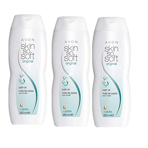 3 x Avon Skin So Soft Badeöl Original mit Jojoba