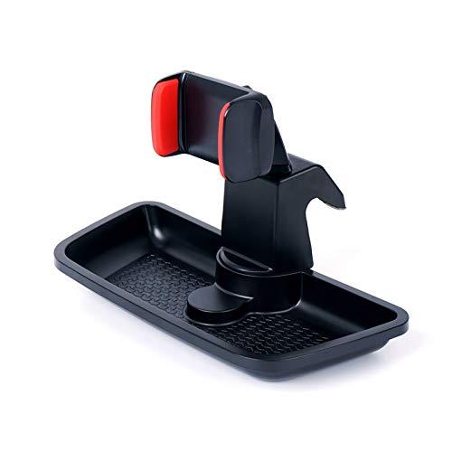 Phoenixset Black ABS Celular Tenedor de teléfono móvil Coche GPS Bracket Dash Mount Holder Organizador de Almacenamiento Ajuste para Jeep Wrangler JK 2012-2017 (Color : Type One)