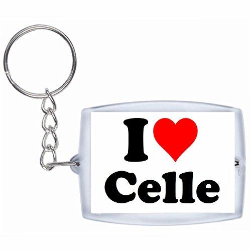 """Exklusive Geschenkidee: Schlüsselanhänger """"I Love Celle"""" in Weiss, eine tolle Geschenkidee die von Herzen kommt - Rucksackanhänger- Weihnachts Geschenktipp"""