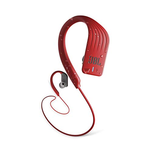 JBL Endurance Sprint Waterproof Wireless In-Ear Sports Headphones (Red) (Renewed)