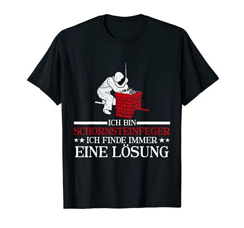 Herren Ich bin Schornsteinfeger ich finde immer eine Lösung T-Shirt