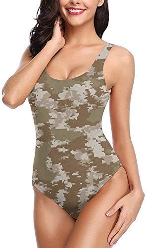 Star Heaven Damen Badeanzug Kanada Maple Leaf Print Einteiler Gr. onesize, Camouflage Camo Militär