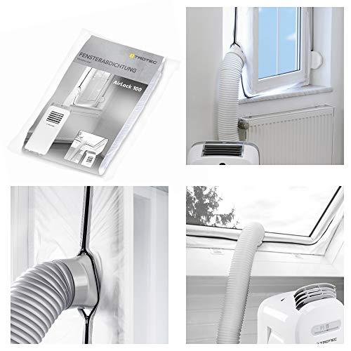 TROTEC Fensterabdichtung AirLock 100 für mobile Klimageräte Klimaanlage Ablufttrockner Hot Air Stop zum Anbringen an Fenster, Dachfenster, Flügelfenster