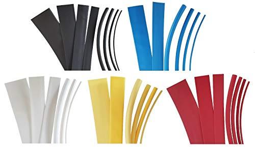1 Meter Schrumpfschlauch 3:1 UL/CSA von 1,5mm bis 40mm DM, Farbe:Weiss, Durchmesser:1.5 mm