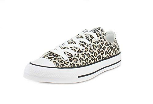 Converse Womens Archive Print Chuck Taylor All Star Cheetah Low Black/Driftwood/Light Fawn Sneaker - 8 Men - 10 Women