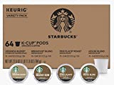 Starbucks K-Cups Coffee Pods | Variety Pack for Keurig Brewers | 1 box (64 pods total) (Blonde & Medium Roast Variety, 64 Count)