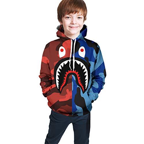 KMYUROOL Kids Youth Bape Casual Pullover Hoodie Hoodies Hooded Sweatshirt for Teen Boys and Girls