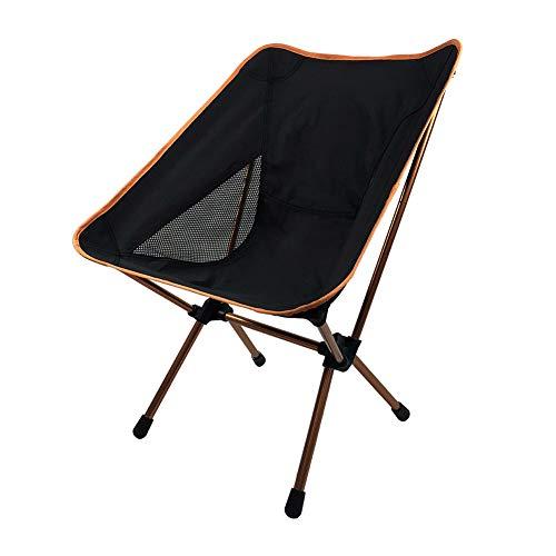 ZHHAOXINFC Draagbare Vouwstoel, Campingstoel, Lichtgewicht en Compact, Draagbaar, Sterk Stevig Stevig Aluminium, Duurzaam, Gemakkelijk te dragen, Eenvoudige Opslag Lichtgewicht, Oranje