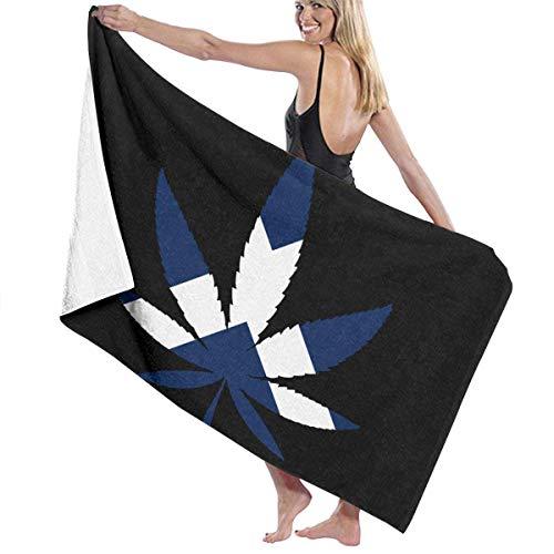 Kay Sam Toallas de Playa Weed -Tenerife Flag Toallas de baño para Adolescentes y Adultos Toalla de Viaje Toalla de 31x51 Pulgadas