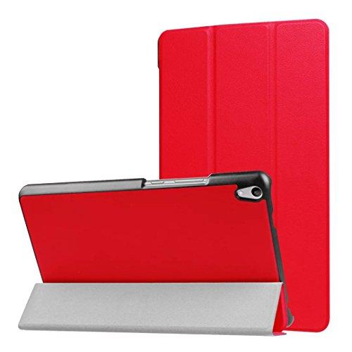 Tab3 8 Plus Funda ultra delgada ligera para tablet Lenovo Yoga Tab 3 8 Plus TB-8703 (rojo)