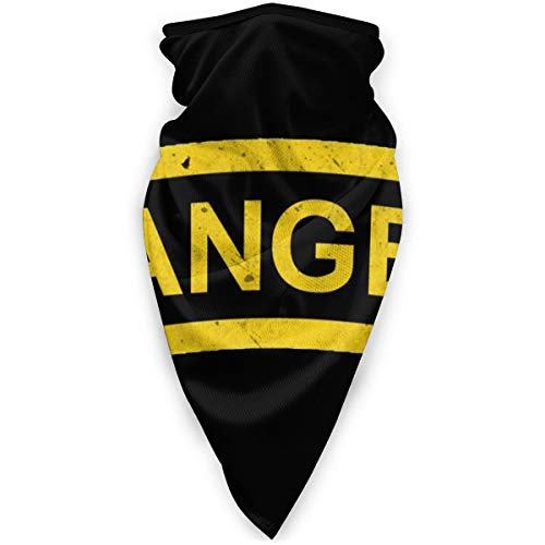 Us Army - Ranger Tab Patch Decal Seamless Ski Bandanas Face Mask Neck Gaiter Headwrap Head Scarf Skiing Balaclava Black
