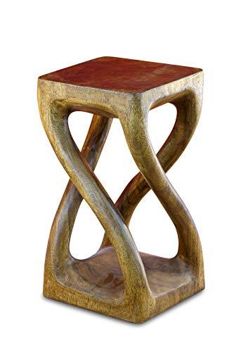 Kinaree 50cm houten bijzettafel - nachtkastje BUENG massief acacia koloniaal bruin