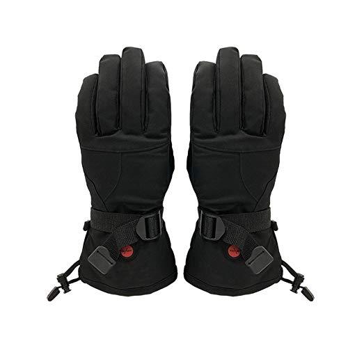 ZKHD Electro-Thermal, Winter Männer und Frauen im Freien Radfahren Lithium-Batterie Fever Handschuhe, Winddicht warm halten