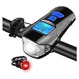 XTZJ LED-Fahrrad-Beleuchtung USB-Vorder- und Heckaufladbare Fahrrad-Scheinwerfer-Rücklicht,...