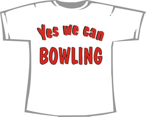 Yes we can Bowling; T-Shirt weiß, Gr. 4XL; Unisex