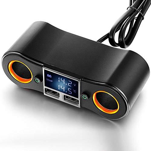 SSZZ autolader dual USB, dual hole schakelaar voor auto design aansteker, LED Glare