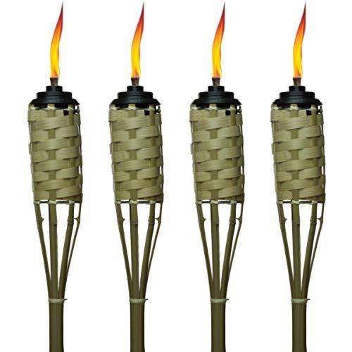 backyard torches TIKI Brand 57-Inch Luau Bamboo Torches - 4 pack