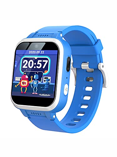 TOOBUR Kids Smart Watch with Camera, Music Player, Pedometer, Games, Alarm Clock, Stopwatch, Flashlights, Touch Screen Wrist Smartwatch for Boys Girls, Great Kids Gift (Blue)
