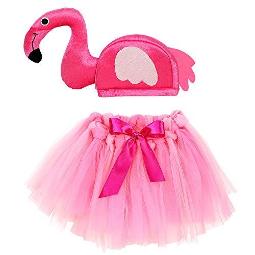 WIDMANN 96535Disfraz Para Niños, diseño de flamencos Chica, Color Rosa