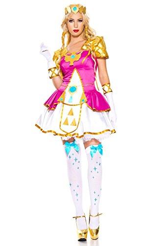 Music Legs Elf Princess Cosplay Costume Hot Pink X-Large