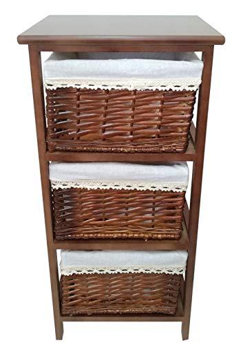 Mueble Gestion Cajonera 3 Cajones Viseu (Nogal Degradado) Rustico Vintage