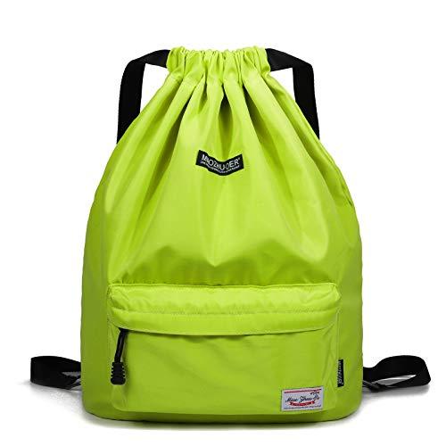 WANDF wasserdichte Rucksack mit Teleskopischem Schulterriemen, für Einkauf und Sport Yoga (Hellgelb)