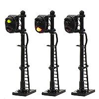 情景コレクション 交通 信号ライト 2灯式信号機 黒い金属ライト柱 3本入り 1/150 鉄道模型 建物模型 ジオラマ 情景コレクション 教育 DIY