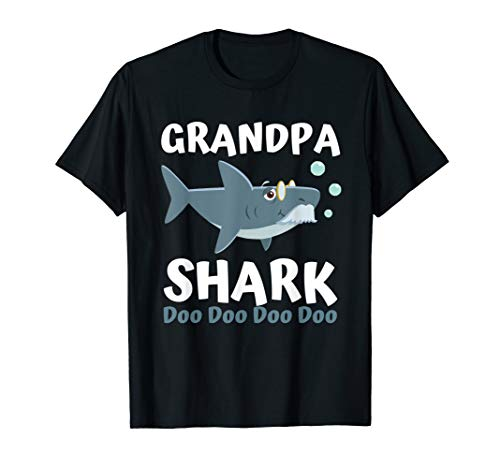 Fathers Day Gift from Wife Kids Baby Grandpa Shark Doo Doo T-Shirt