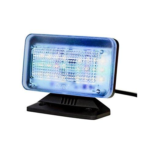 tiiwee TV Simulator PowerPlus mit 24 LED's und 3 wählbaren Programmen - Komplett mit Netzadapter - Lichtsimulation zum Einsatz als Einbruchschutz -Fernsehsimulator - Fernseh-Atrappe - Fake TV