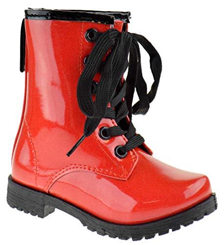 Lace up Front Buckle Decor Combat Boots