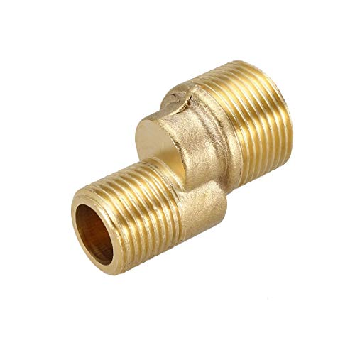 Uxcell - Grifo de ducha de latón macizo con brazo oscilante ajustable G1/2-G3/4