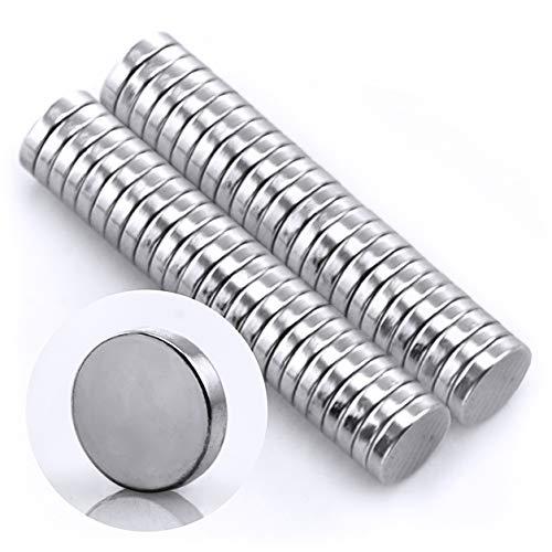 Omnicube - Runde N35 Neodym Magnete Extra Stark (50 Stück) | 5x1mm Starke Magnete | Geeignet für Magnettafeln, Kühlschränke, Whiteboards und vieles mehr