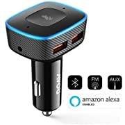 Roav VIVA Pro, by Anker, Alexa-Enabled 2-Port USB Car Charger for Navigation, Hands-Free Calling, and Music. For Cars with Bluetooth/CarPlay/Android Auto/Aux-In/FM Reception