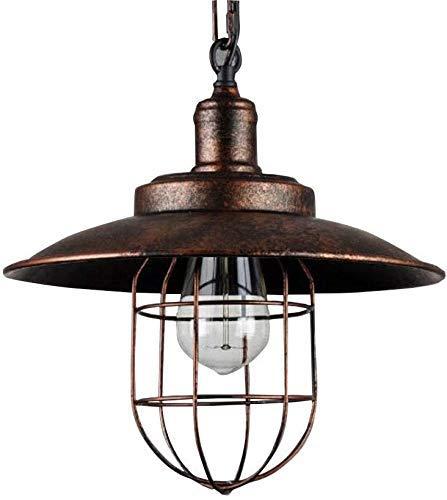 Lámparas colgantes Vintage Industrial E27 Lámpara colgante retro Lámpara de interior al aire libre Lámpara colgante de metal Lámpara de techo ajustable en altura impermeable IP23 Pabellón de