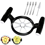 LIANGKEN Apple Slicer and Corer Tool, Professional Apple Cutter 8 Slices with Stainless Steel Blade, Apple Divider with Comfortable Handle, Durable and Sturdy, Fruit Cutter