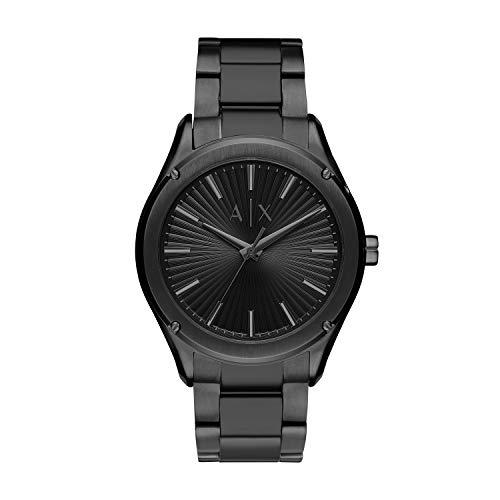 Armani Exchange Herren Analog Quarz Uhr mit Edelstahl Armband AX2802