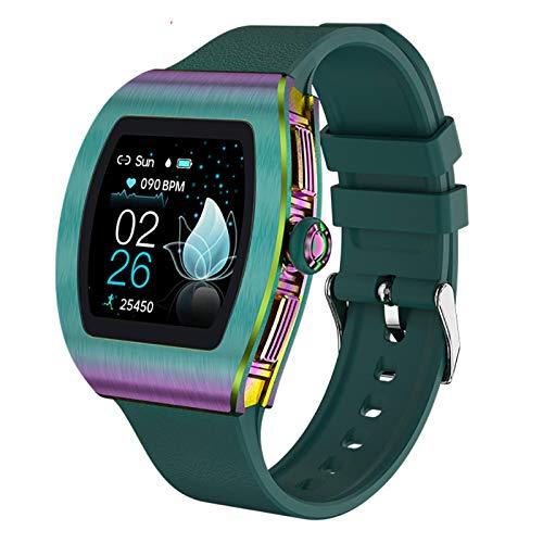 Uhr Herren Smartwatch 170mAh Batterie, Fernbedienungskamera, wäHlscheibe/Wetter-/Informationserinnerung, 10 Arten Der üBerwachung Von Sport-/Gesundheitsdaten,Smartwatches Mit Touch Green